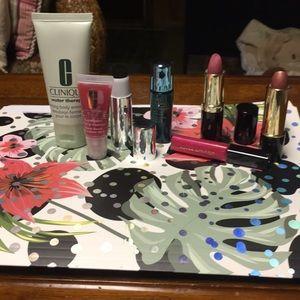 Lipsticks & balms & Clinique brush